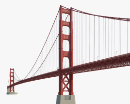3D model of Golden Gate Bridge