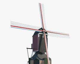 Windmill Sint Jan 3D model