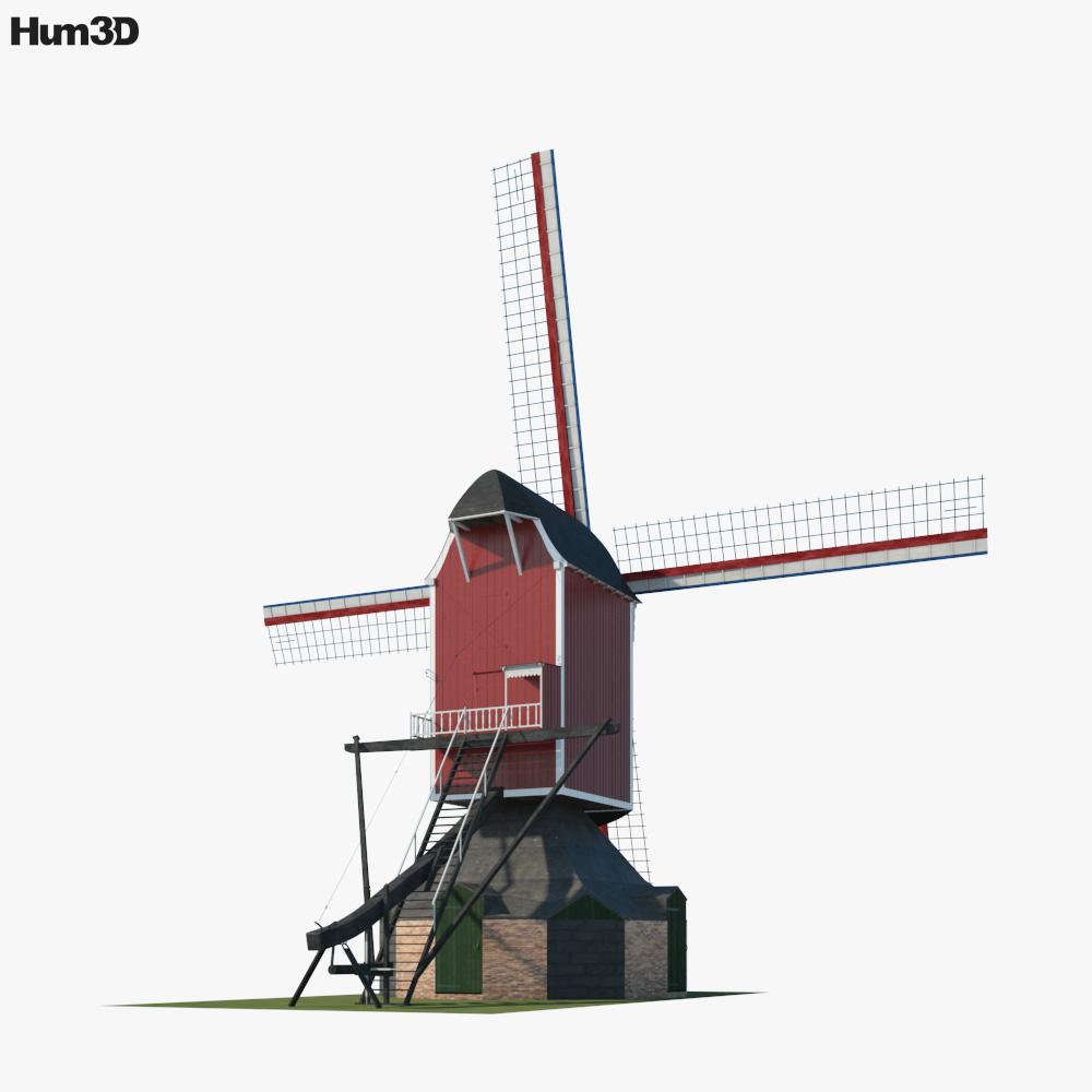 Windmill Sint Jan 3d model