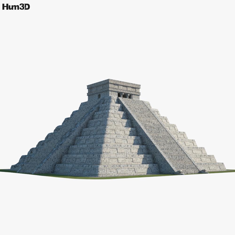 3D model of Pyramid of Kukulkan