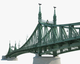 Liberty Bridge 3D model