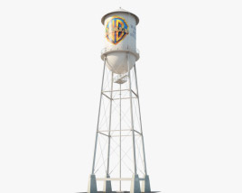 3D model of Warner Bros. Water Tower