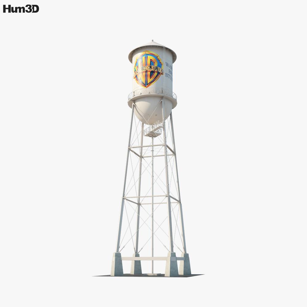 Warner Bros. Water Tower 3D model