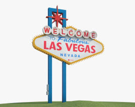 3D model of Welcome to Fabulous Las Vegas sign