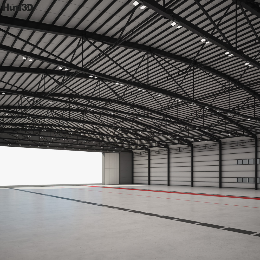 Aircraft hangar 01 3D model