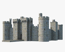3D model of Bodiam Castle