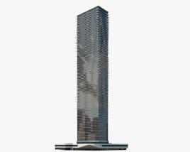 Aqua skyscraper 3D model
