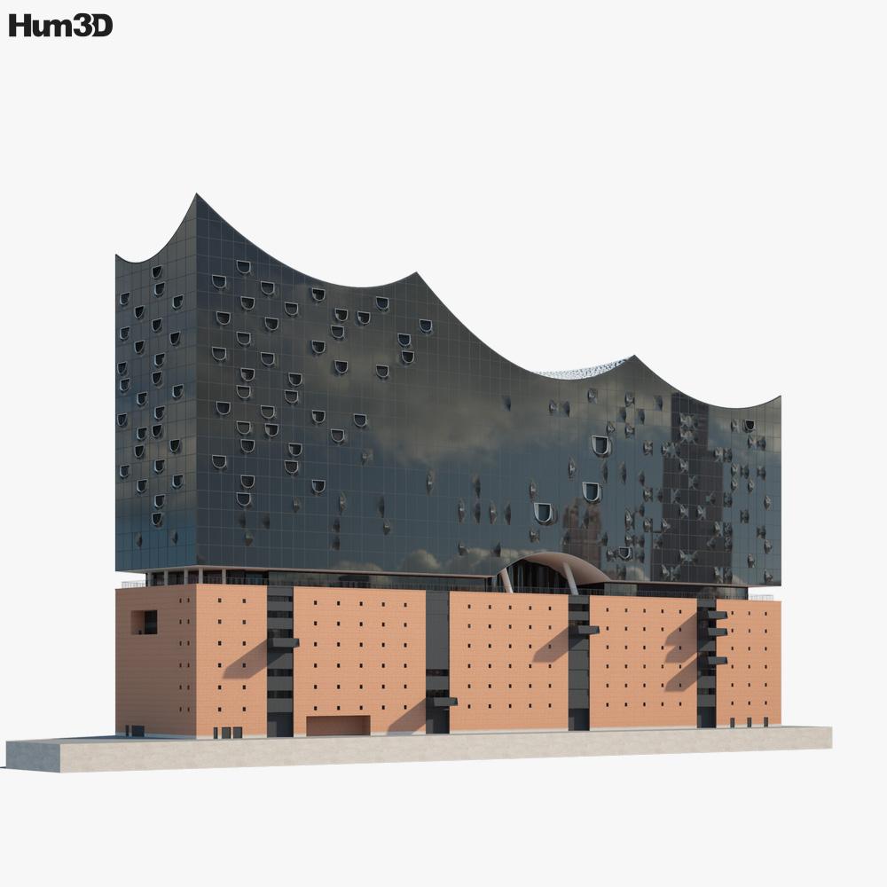 Elbphilharmonie 3D model