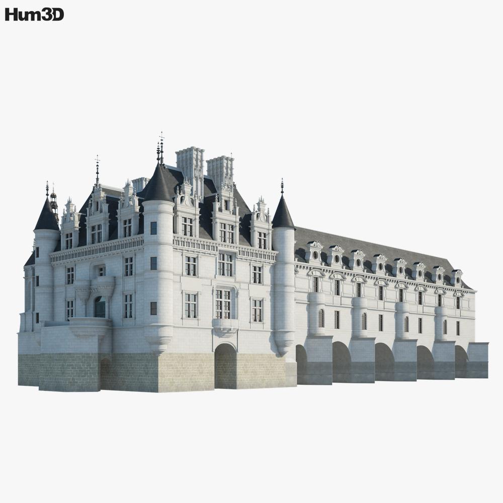 Castle of Chenonceau 3D model