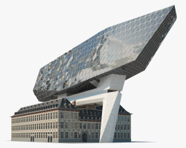 Port Authority Building Antwerp 3D model