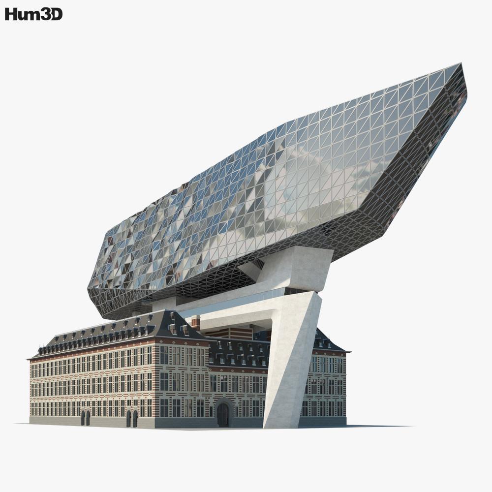 Port Authority Building Antwerp 3D model
