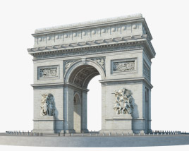 3D model of Arc de Triomphe