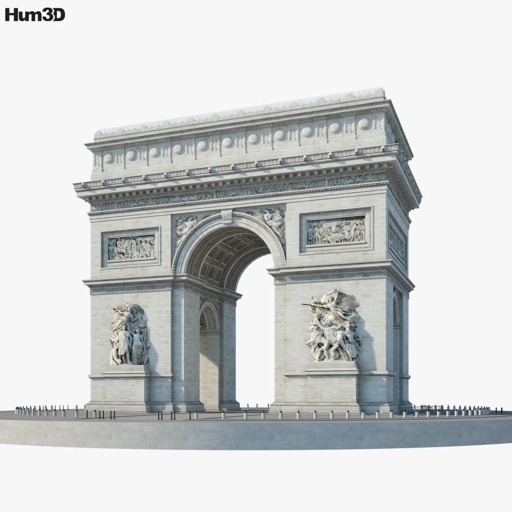 Arc de Triomphe 3D model