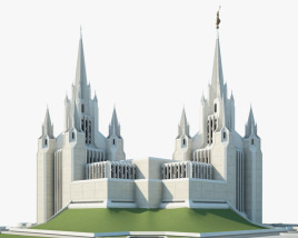 San Diego California Temple 3D model