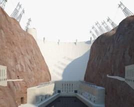 3D model of Hoover Dam