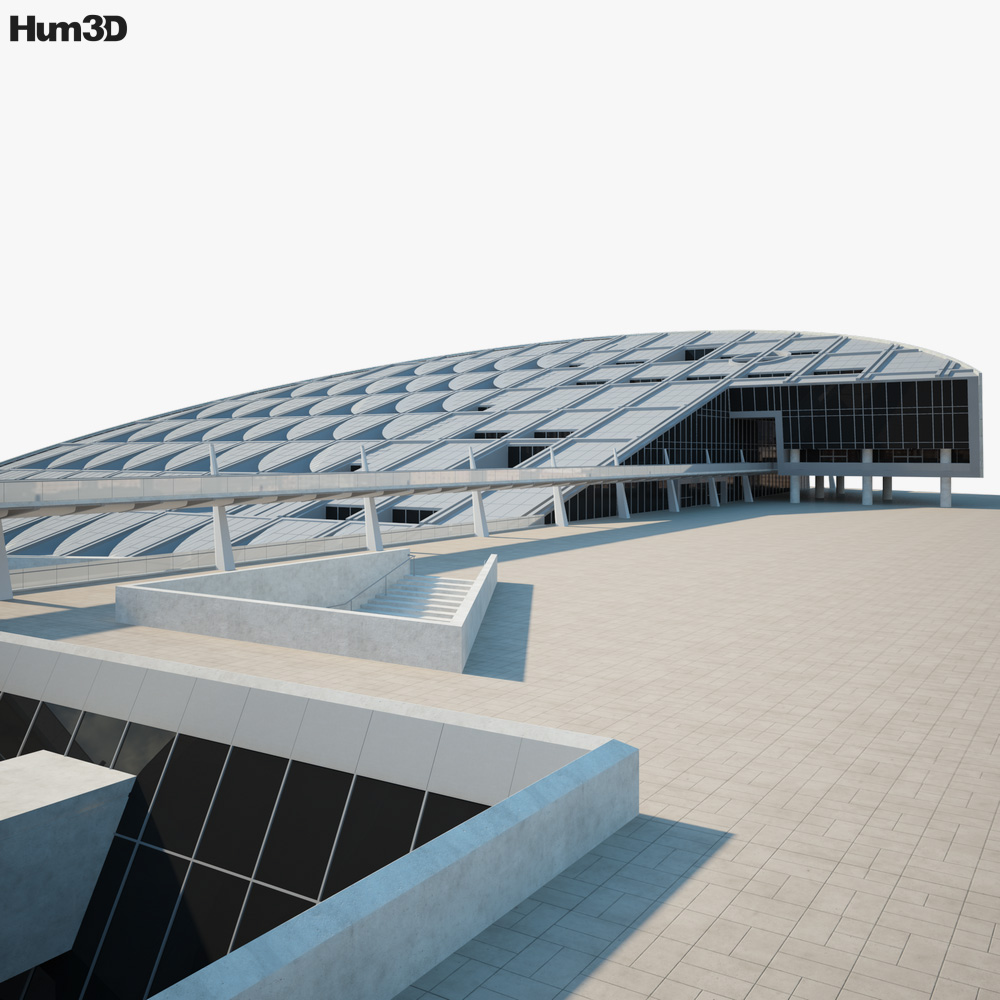 Library of Alexandria Egypt 3D model