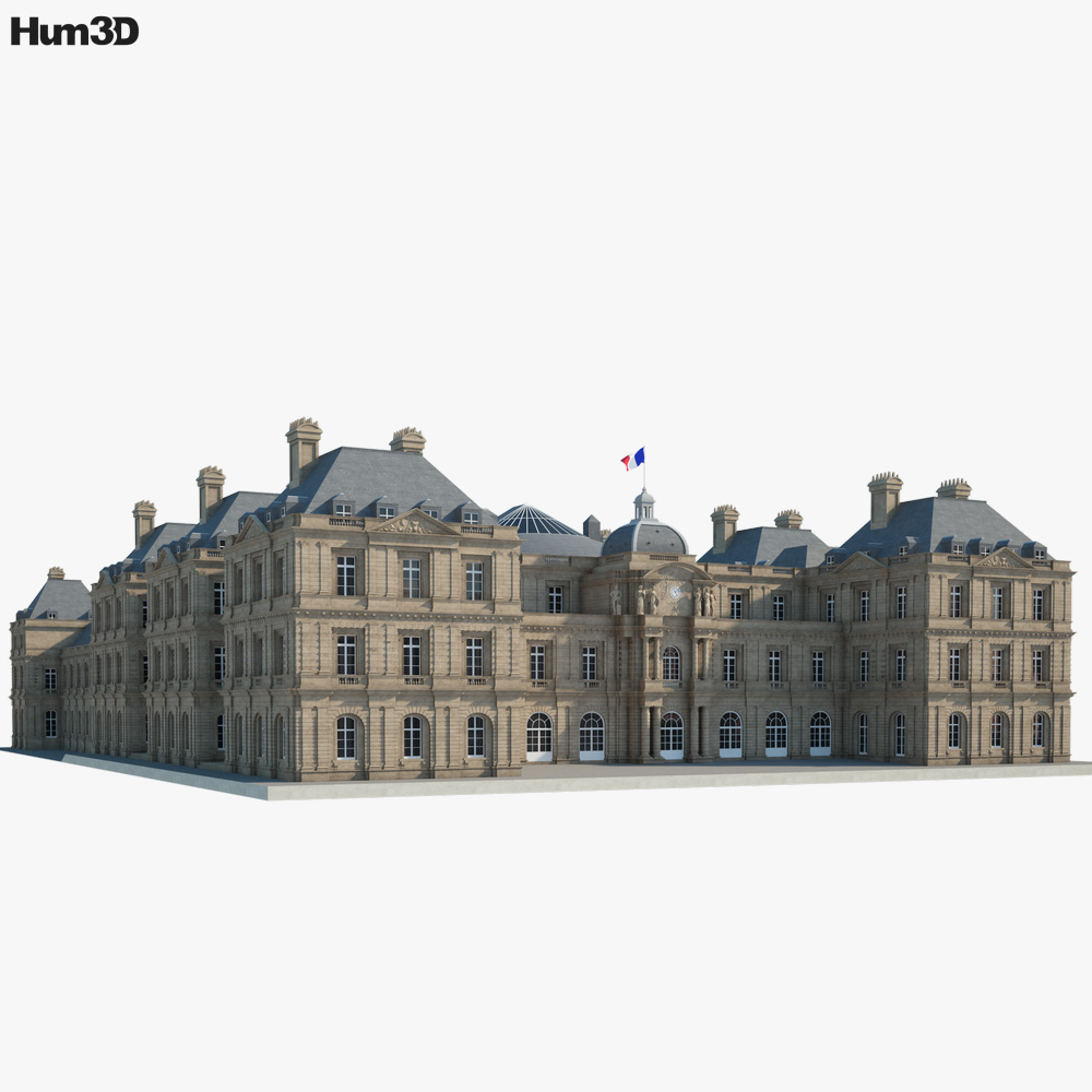 Luxembourg Palace 3d model