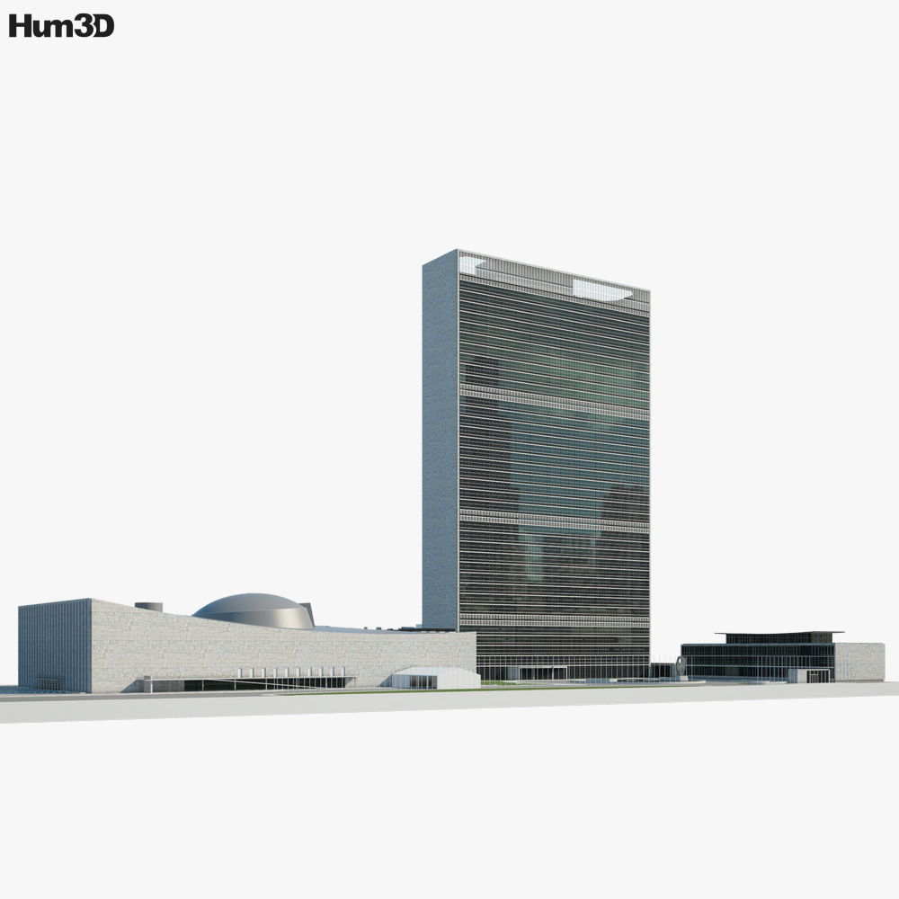 Headquarters of the United Nations 3D model