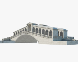 3D model of Rialto Bridge