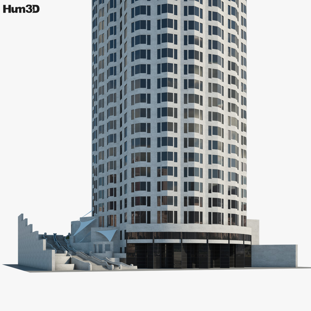 US Bank Tower 3d model