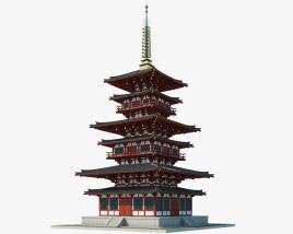 Pagoda of Yakushiji Temple 3D model