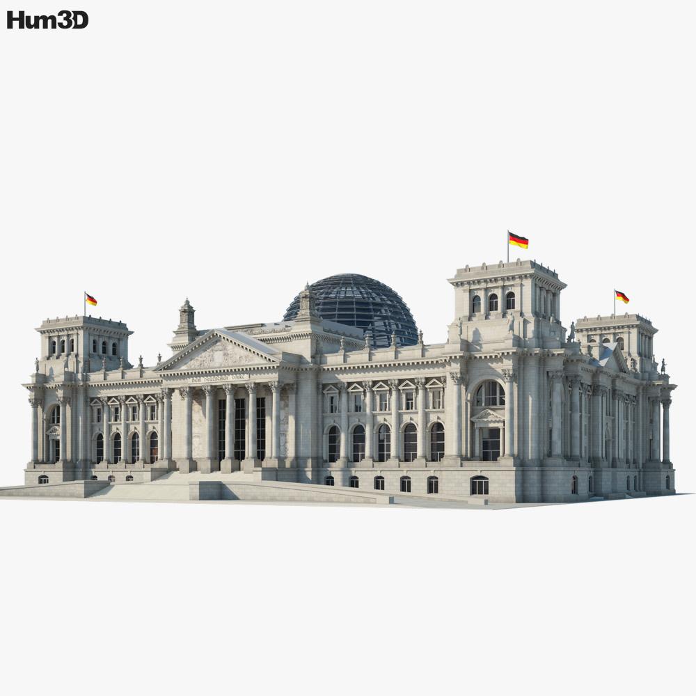 Reichstag building 3D model