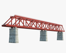Railroad bridge 3D model