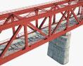 Railroad bridge 3d model