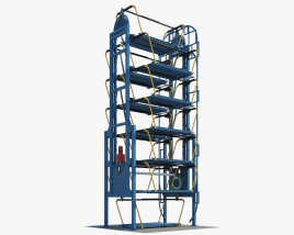 Vertical Rotary Parking System 3D model