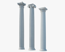 Column orders 3D model
