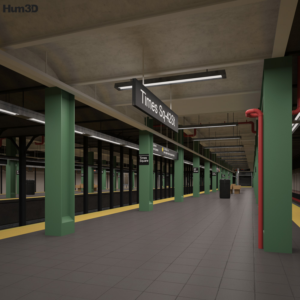 Times Square Subway Station 3D model