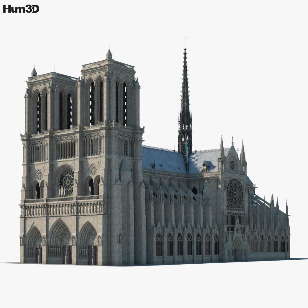 Notre Dame de Paris 3D model