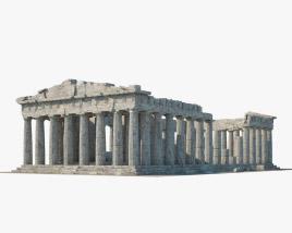 Parthenon ruins 3D model