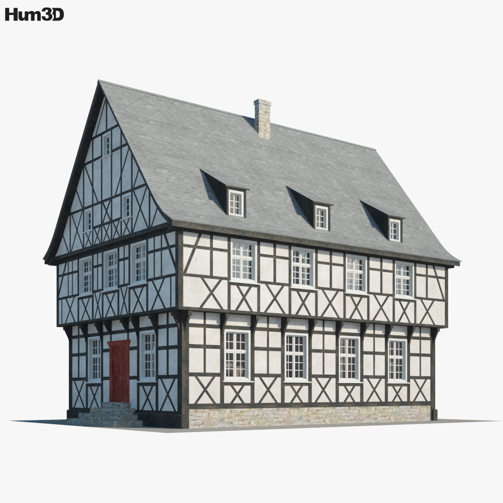 Fachwerkhaus 3d model