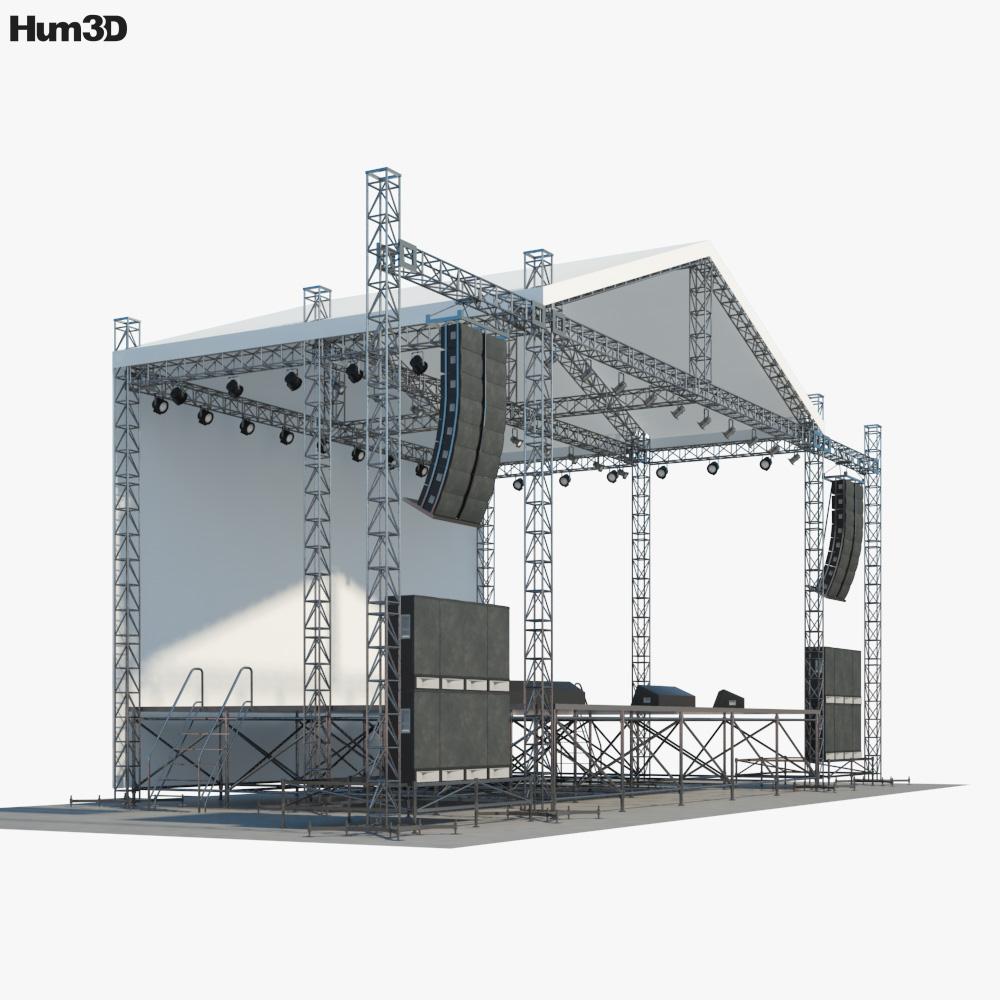 Concert Stage 3d model