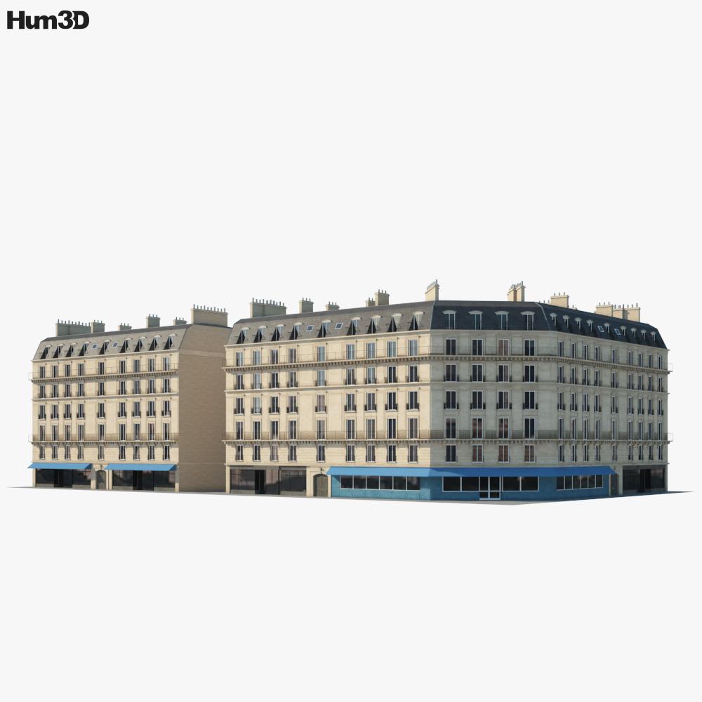 Parisian building 3D model