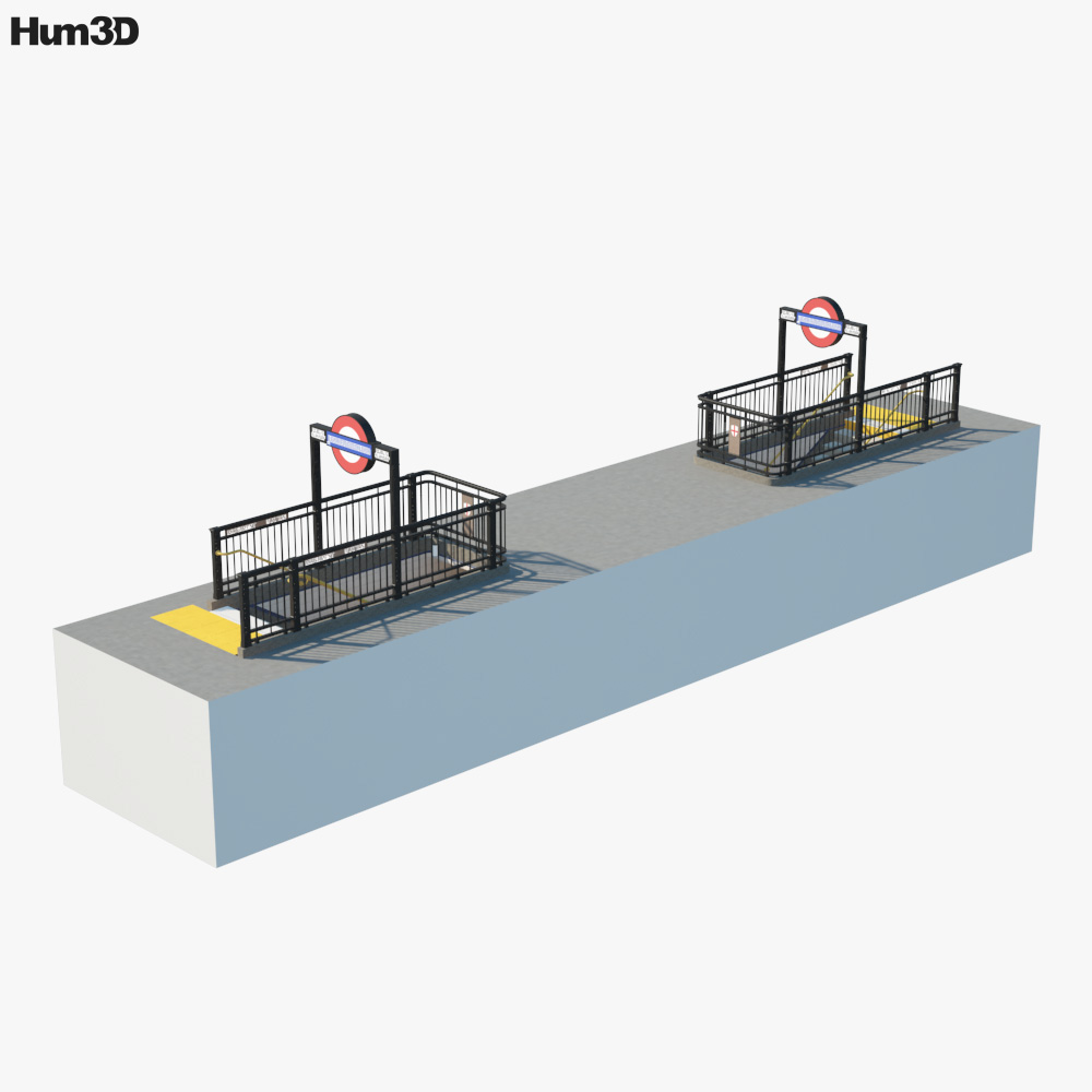 Subway Entrance London 3D model
