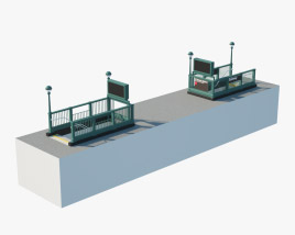 Subway Entrance New York 3D model