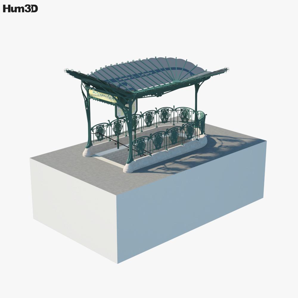 Subway Entrance Paris 3D model
