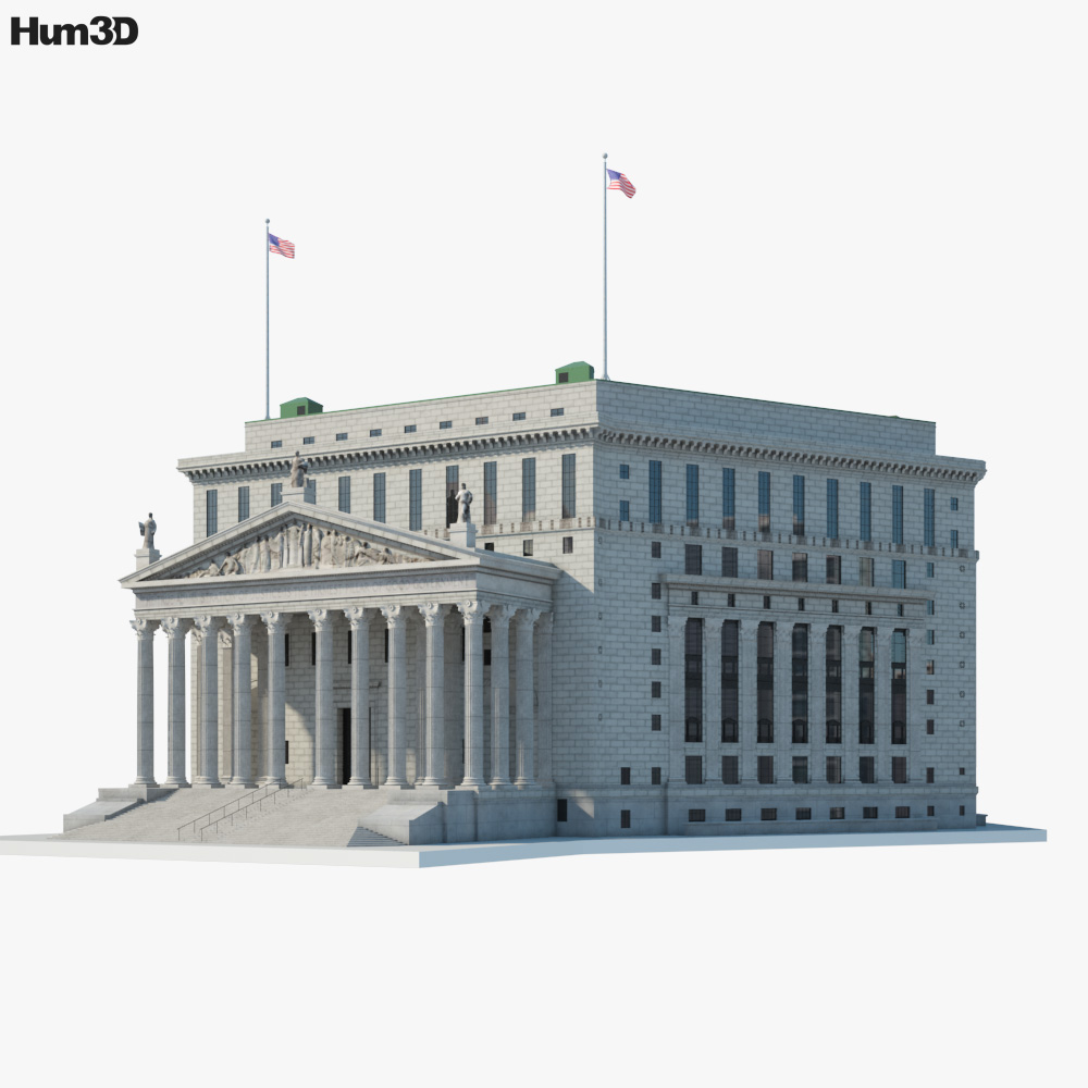 New York County Courthouse 3D model