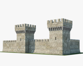 Medieval wall V01 3D model