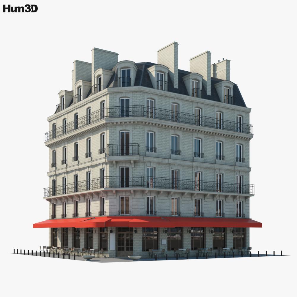 Parisian café 3d model