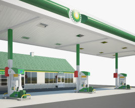 3D model of BP gas station 001