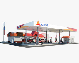 3D model of Citgo gas station