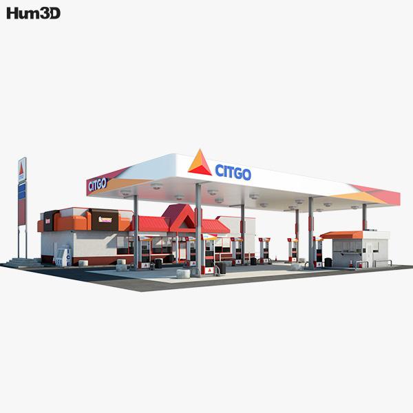 Citgo gas station 3D model