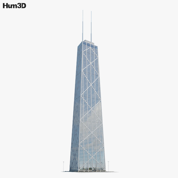 3D model of John Hancock Center