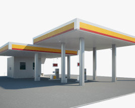 3D model of Shell gas station 001