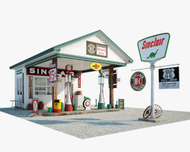 3D model of Sinclair gas station