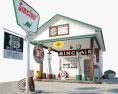 Sinclair gas station 3d model