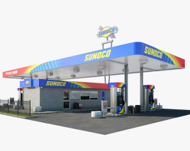 3D model of Sunoco gas station 001